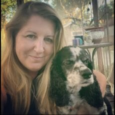Tiffany and dog